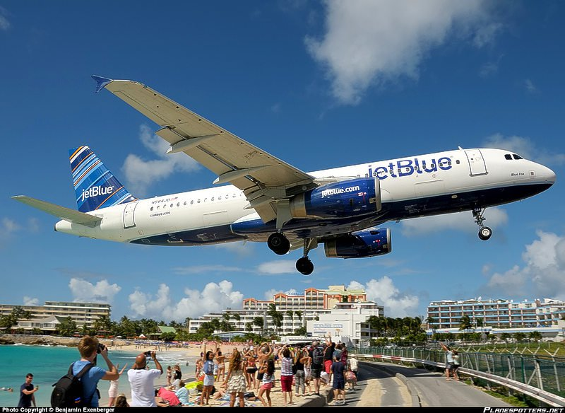 JetBlue's mint in St. Maarten